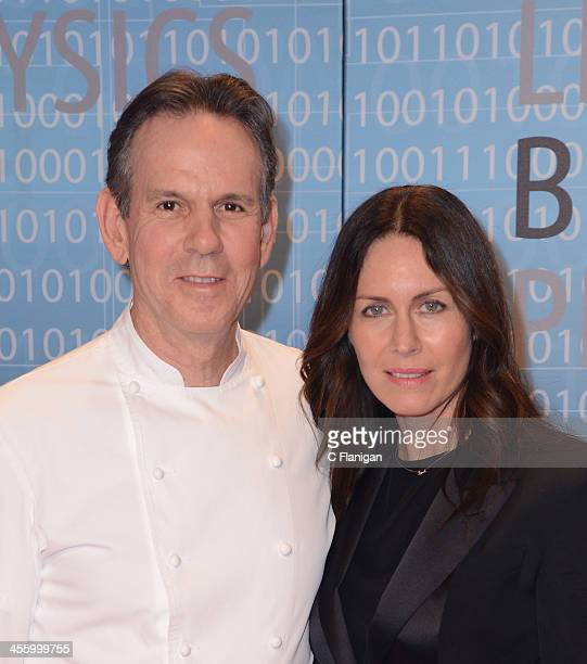 Chef Thomas Keller and Laura Cunningham arrive at the Breakthrough Prize Inaugural Ceremony at NASA Ames Research Center on December 12 2013 in...