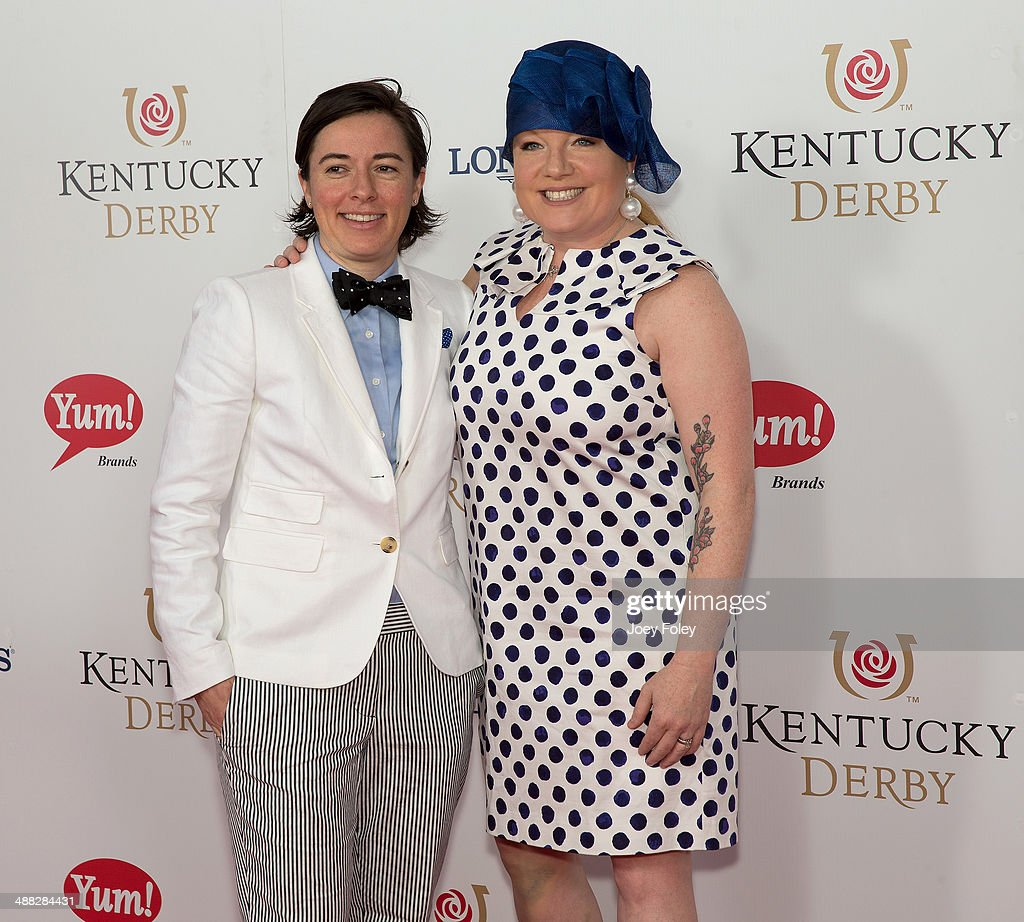 Chef Tiffani Faison (R) and guest attends 140th Kentucky Derby at Churchill Downs on May 3, 2014 in Louisville, Kentucky.