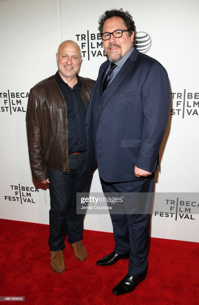 Chef <a gi-track='captionPersonalityLinkClicked' href=/galleries/search?phrase=Tom+Colicchio&family=editorial&specificpeople=4167072 ng-click='$event.stopPropagation()'>Tom Colicchio</a> and director <a gi-track='captionPersonalityLinkClicked' href=/galleries/search?phrase=Jon+Favreau&family=editorial&specificpeople=239483 ng-click='$event.stopPropagation()'>Jon Favreau</a> attends the 'Chef' Premiere during the 2014 Tribeca Film Festival at BMCC Tribeca PAC on April 22, 2014 in New York City.