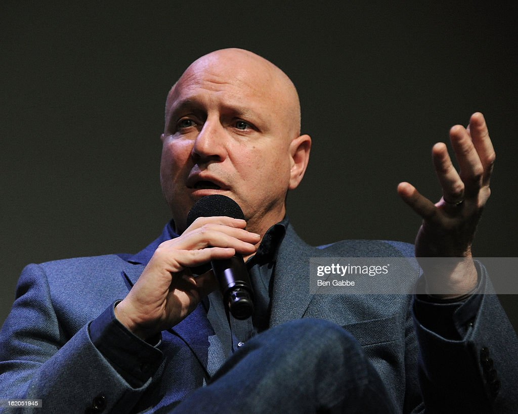 Chef <a gi-track='captionPersonalityLinkClicked' href=/galleries/search?phrase=Tom+Colicchio&family=editorial&specificpeople=4167072 ng-click='$event.stopPropagation()'>Tom Colicchio</a> attends Apple Store Soho Presents: Meet The Filmmakers - 'A Place At The Table' at Apple Store Soho on February 18, 2013 in New York City.