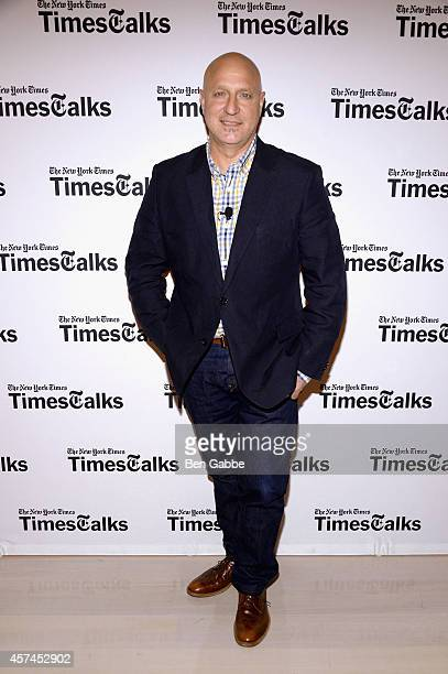 Chef Tom Colicchio attends TimesTalk Tom Colicchio Rachael Ray during the Food Network New York City Wine Food Festival Presented By FOOD WINE at The...