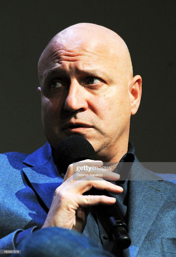Chef <a gi-track='captionPersonalityLinkClicked' href=/galleries/search?phrase=Tom+Colicchio&family=editorial&specificpeople=4167072 ng-click='$event.stopPropagation()'>Tom Colicchio</a> speaks at Apple Store Soho Presents: Meet The Filmmakers - 'A Place At The Table' at Apple Store Soho on February 18, 2013 in New York City.
