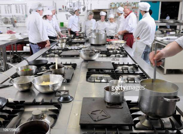 chef trainees in cooking class XXXL image