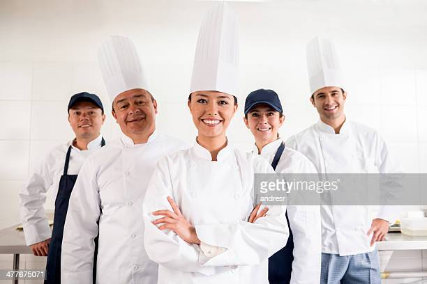 Chef with her team