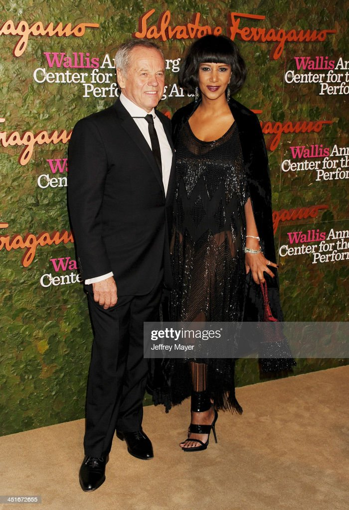 Chef Wolfgang Puck and Gelila Assefa arrive at the Wallis Annenberg Center For The Performing Arts Inaugural Gala at Wallis Annenberg Center for the Performing Arts on October 17, 2013 in Beverly Hills, California.