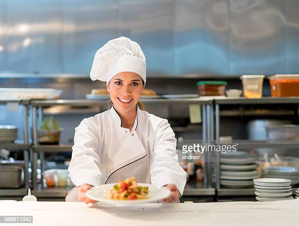 Chef working at a restaurant