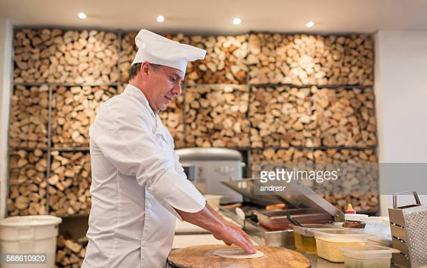 Chef working at an Italian restaurant
