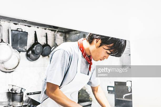 Chef working in the kitchen.
