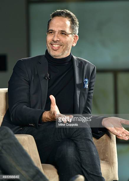 Chef Yotam Ottolenghi speaks onstage at The New York Times TasteMasters presented by Park Hyatt on October 19 2015 in New York City