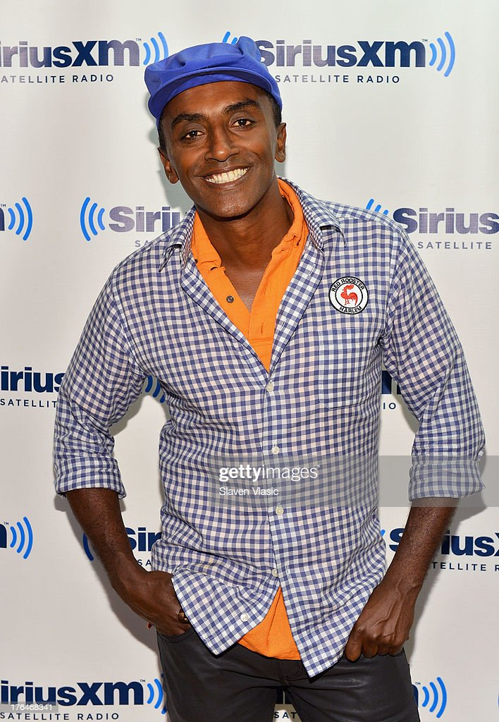 Chef/author <a gi-track='captionPersonalityLinkClicked' href=/galleries/search?phrase=Marcus+Samuelsson&family=editorial&specificpeople=2143367 ng-click='$event.stopPropagation()'>Marcus Samuelsson</a> visits SiriusXM Studios on August 13, 2013 in New York City.