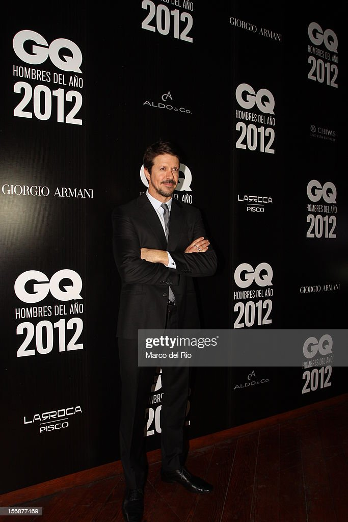 Cheff Rafael Osterling poses during the awards ceremony GQ Men of the Year 2012 at La Huaca Pucllana on November 23, 2012 in Lima, Peru.