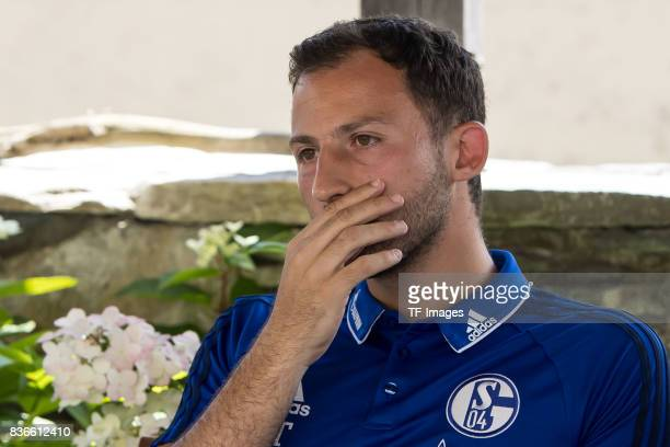 ChefHead coach Domenico Tedesco of Schalke looks on during the Training Camp of FC Schalke 04 on July 29 2017 in Mittersill Austria