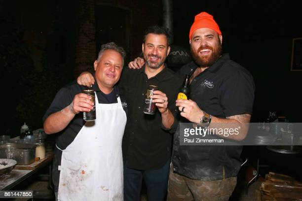 Chef/Owner of Pizzeria Bianco Chris Bianco Jimmy Kimmel and chef/owner of Fortina Christian Petroni attend the Jimmy Kimmel Live Welcome to Brooklyn...