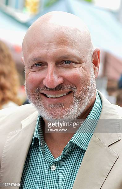 Chef/restaurater Tom Colicchio attends the Economics Of Healthy Eating Press Conference at The Mount Sinai Green Market on August 7 2013 in New York...
