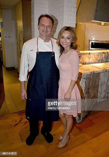 Chefs Andrew Carmellini and Giada De Laurentiis attend A Perfect Pairing A Brunch hosted by Giada De Laurentiis and Andrew Carmellini during 2015...