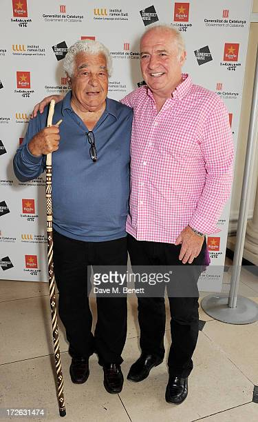 Chefs Antonio Carluccio and Rick Stein attend the private view of 'elBulli Ferran Adria and The Art of Food' at Somerset House on July 4 2013 in...