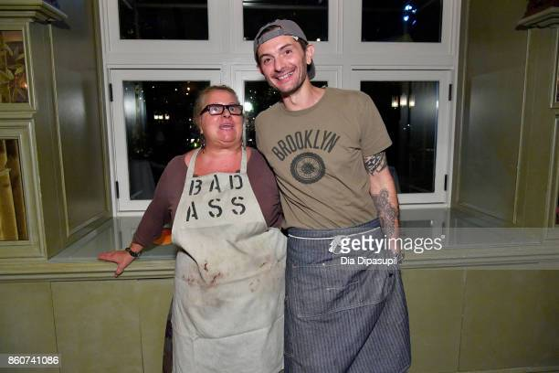 Chefs Beatrice Tosti and Gabriele Corcos attend a Dinner with Debi Mazar Gabriele Corcos and Beatrice Tosti part of the Bank of America Dinner Series...