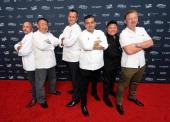 Chefs Christopher Christie Tetsuya Waaku Olivier Dubreuil Buddy Valastro Justin Quek and Luke Mangan attend Vegas Uncork'd by Bon Appetit's Grand...