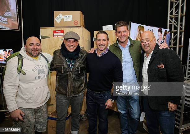 Chefs Duff Goldman Michael Symon Bobby Deen Jamie Deen and Andrew Zimmern attend the Grand Tasting presented by ShopRite featuring Samsung Culinary...