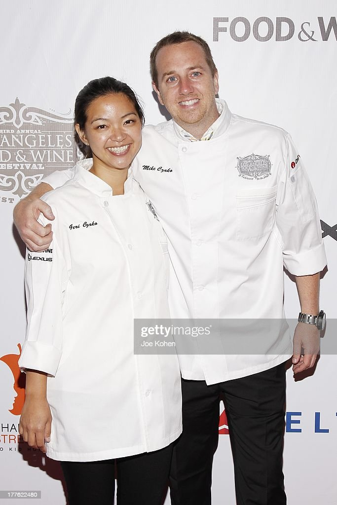 Chefs Geri Czako and Mike Czako attend LEXUS Live On Grand At The 3rd Annual Los Angeles Food & Wine Festival on August 24, 2013 in Los Angeles, California.
