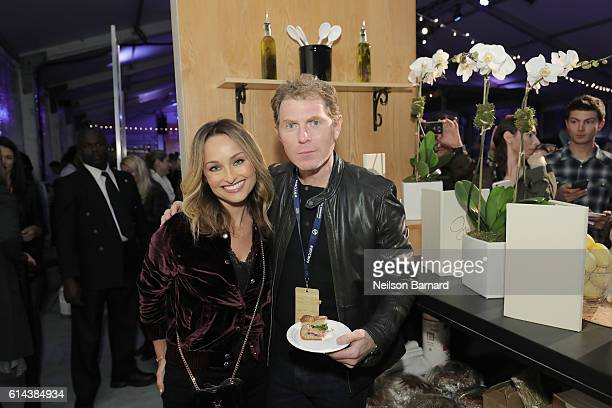 Chef's Giada De Laurentiis and Bobby Flay attend Barilla's Italian Table hosted by Giada De Laurentiis during the Food Network Cooking Channel New...