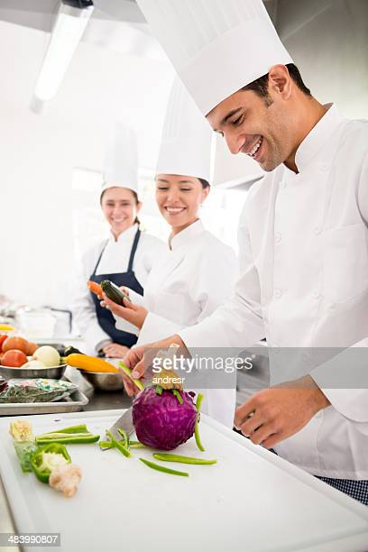 Chefs in a cooking class