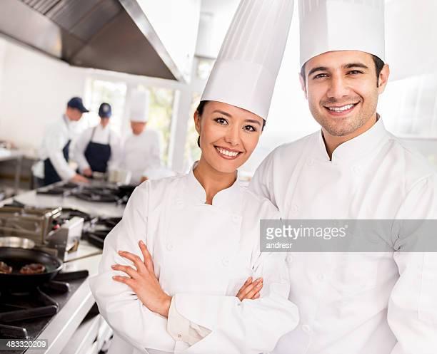 Chefs in a restaurant