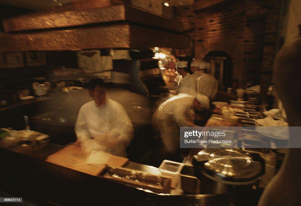 Chefs in kitchen : Stock Photo