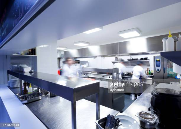Chefs in the commercial kitchen