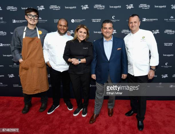 Chefs John Um and Timon Balloo television personalities and chefs Lorena Garcia and Buddy Valastro and chef Olivier Dubreuil all from The Venetian...
