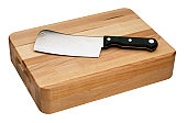 Chef's Knife on a Cutting Board