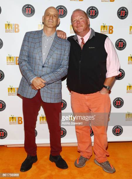 Chefs Marc Vetri and Mario Batali attend 6th Annual Mario Batali Foundation Honors dinner at Del Posto on October 15 2017 in New York City