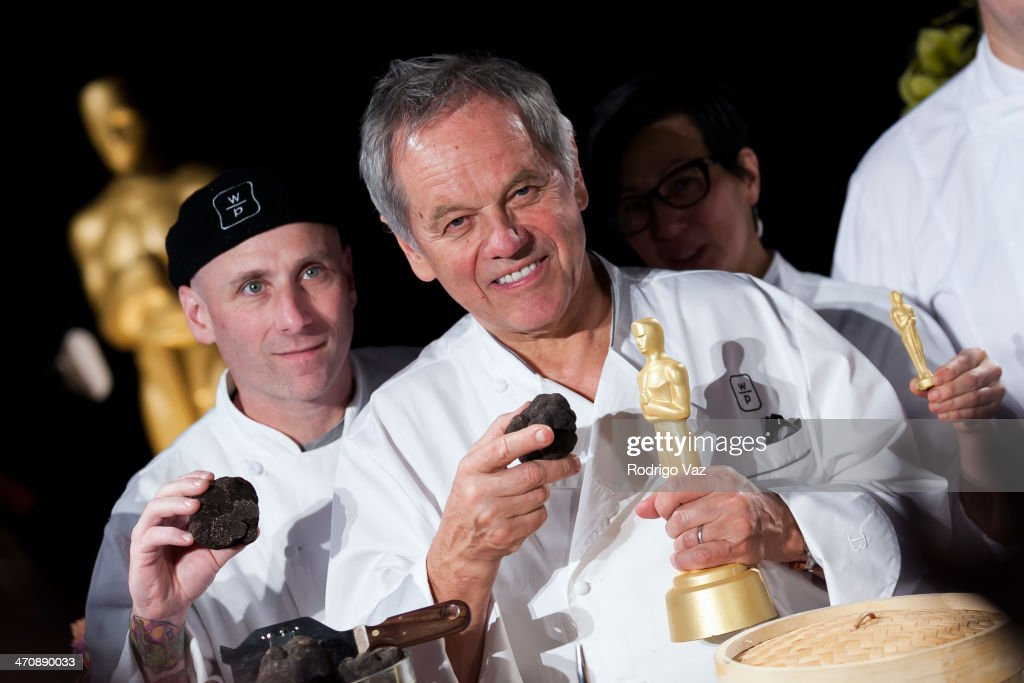 Chefs Matt Bencivenga (L) and <a gi-track='captionPersonalityLinkClicked' href=/galleries/search?phrase=Wolfgang+Puck&family=editorial&specificpeople=157523 ng-click='$event.stopPropagation()'>Wolfgang Puck</a> attend the 86th Annual Academy Awards - Governors Ball Press Preview at The Ray Dolby Ballroom at Hollywood & Highland Center on February 20, 2014 in Hollywood, California.