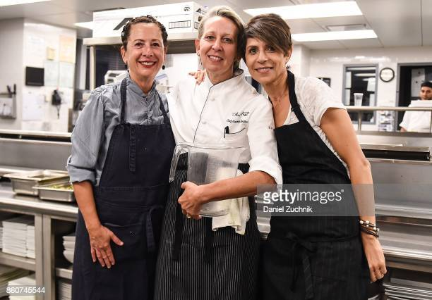 Chefs Nancy Silverton Gabrielle Hamilton and Dominique Crenn attend the Food Network Cooking Channel New York City Wine Food Festival Presented By...