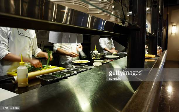 Chefs on kitchen