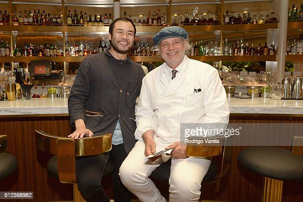 Chefs Paul Qui and Francis Mallmann attend a Dinner Hosted By Francis Mallmann And Paul Qui during 2016 Food Network Cooking Channel South Beach Wine...