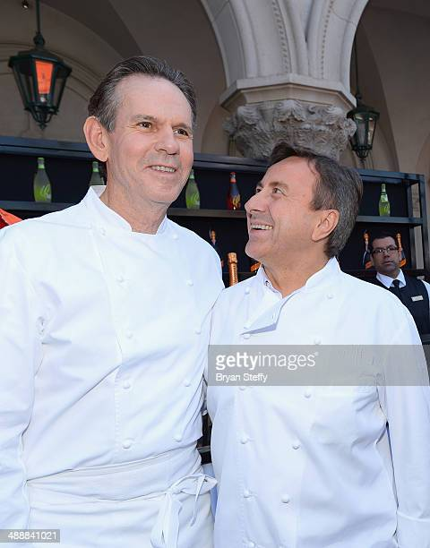 Chefs Thomas Keller and Daniel Boulud appear at The Venetian Las Vegas during the kick off for the eighth annual Vegas Uncork'd by Bon Appetite...