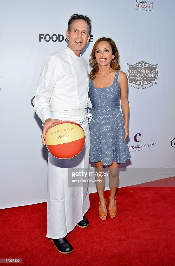 Chefs Thomas Keller (L) and Giada De Laurentiis arrive at the opening night of the 2013 Los Angeles Food & Wine Festival - 'Festa Italiana With Giada De Laurentiis' on August 22, 2013 in Los Angeles, California.