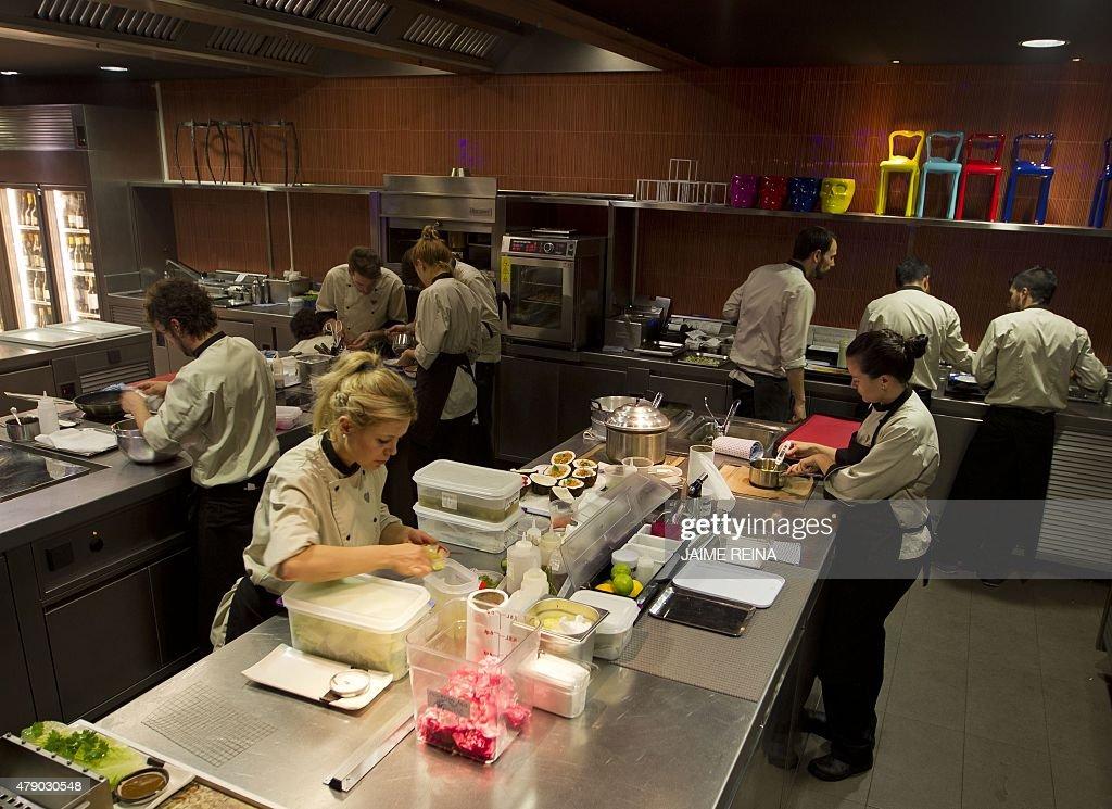 chefs work at heart restaurants kitchen in ibiza on june 29 2015 take the - Contemporary Restaurant 2015