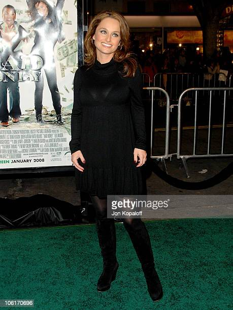 Chef/Television host Giada de Laurentiis arrives at the Los Angeles Premiere 'Mad Money' at the Mann Village Theater on January 9 2008 in Westwood...