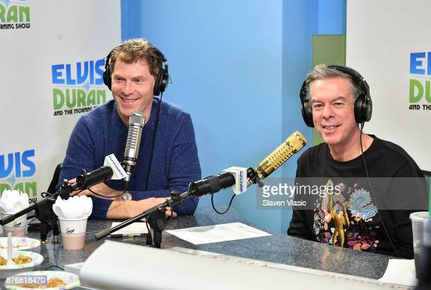 Chef/TV personality Bobby Flay talks to host Elvis Duran at 'The Elvis Duran Z100 Morning Show' at Z100 Studio on November 20 2017 in New York City