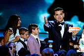 Chef/TV personality Buddy Valastro accepts the Favorite Cooking Show award for 'Cake Boss' onstage during Nickelodeon's 2016 Kids' Choice Awards at...