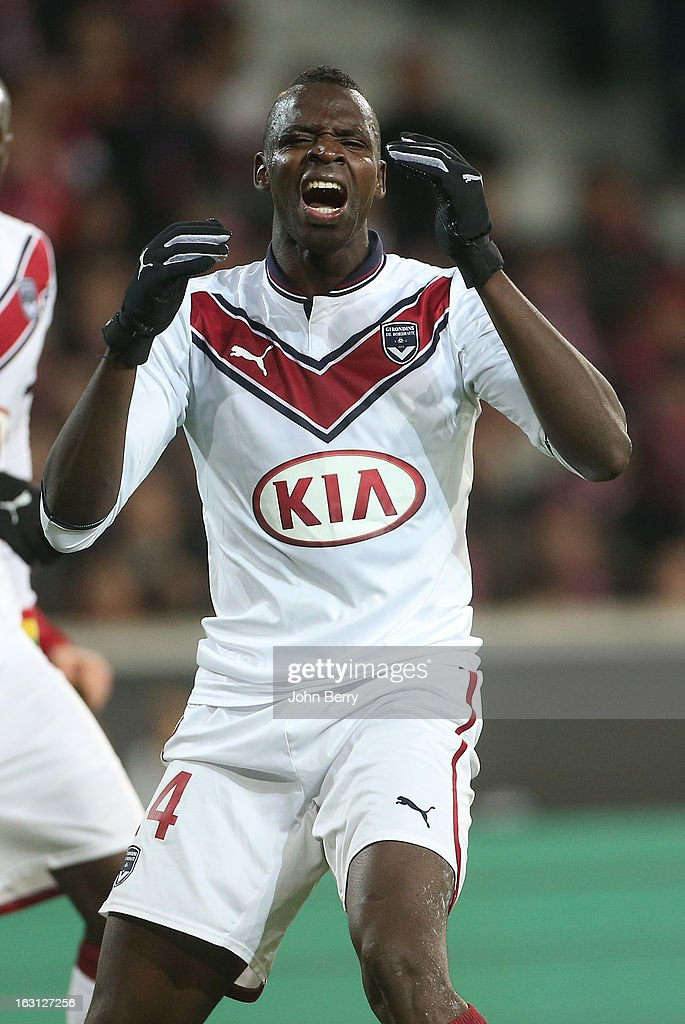 Cheick Diabate of Bordeaux in action during the french Ligue 1 match between Lille LOSC and FC Girondins de Bordeaux at the Grand Stade Lille Metropole on March 3, 2013 in Lille, France.