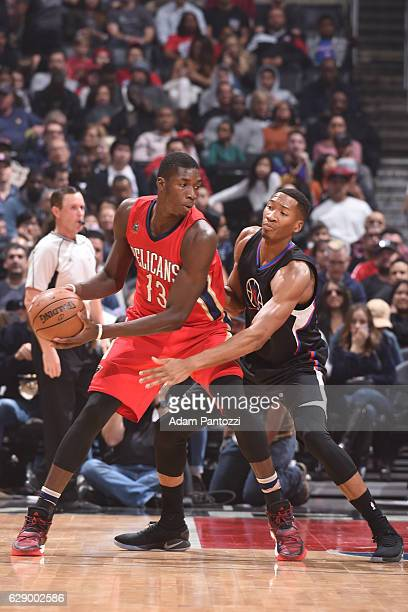 Cheick Diallo of the New Orleans Pelicans handles the ball against the LA Clippers on December 10 2016 at STAPLES Center in Los Angeles California...