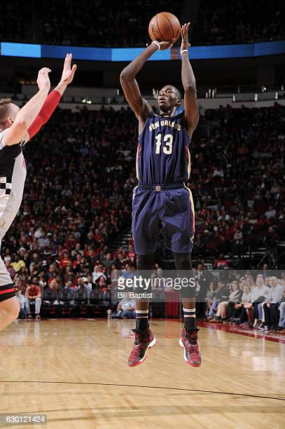 Cheick Diallo of the New Orleans Pelicans shoots the ball against the Houston Rockets during the game on December 16 2016 at the Toyota Center in...