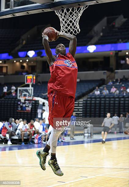 Cheick Diallo with the dunk during the National Basketball Players Association Top 100 Camp on June 19 2014 at John Paul Jones Arena in...