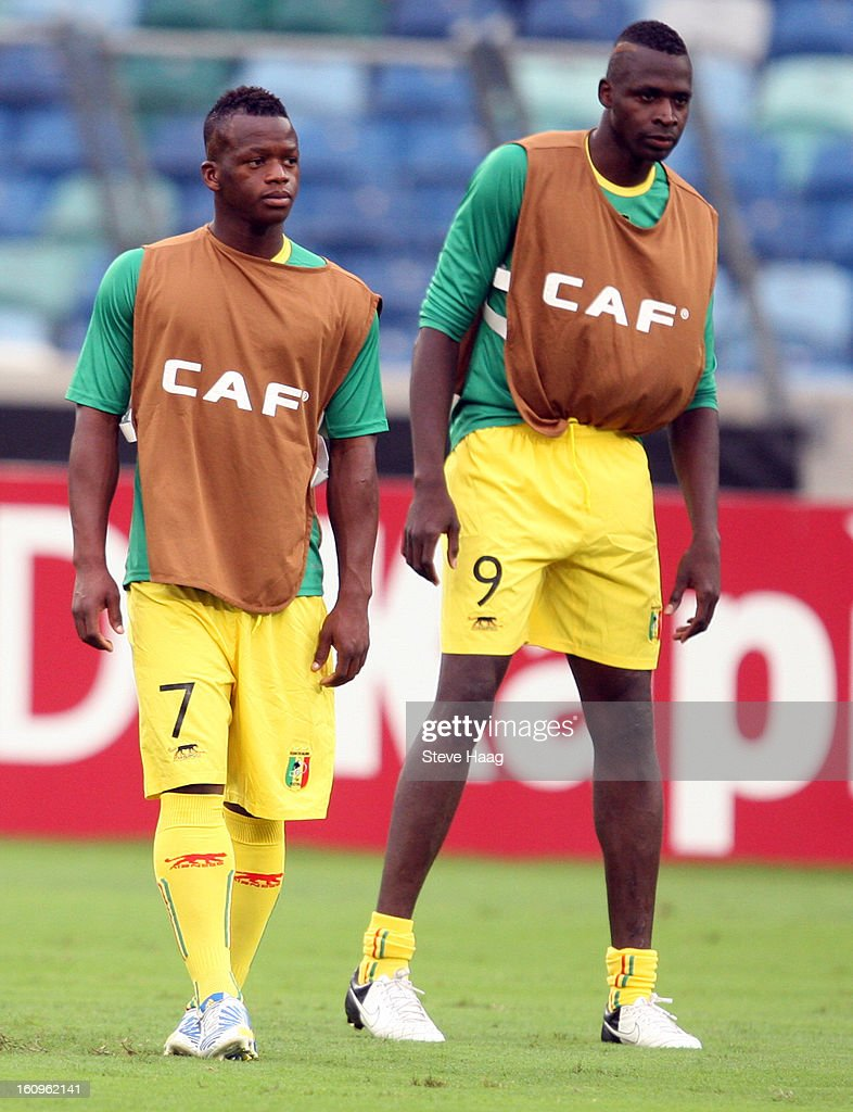 Cheick Diarra of Mali with Cheick Tidiane Diabate of Mali during the 2013 African Cup of Nations Semi-Final match between Mali and Nigeria at Moses Mahbida Stadium on February 06, 2013 in Durban, South Africa.