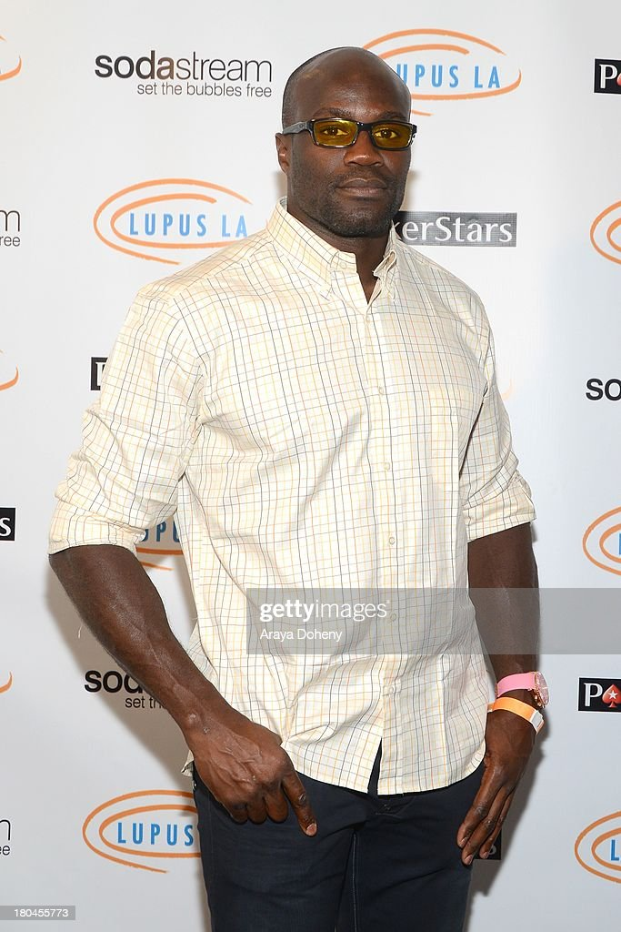 Cheick Kongo attends Get Lucky For Lupus LA! at Peterson Automotive Museum on September 12, 2013 in Los Angeles, California.