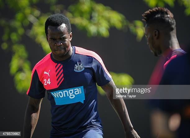 Cheick Tiote during the Newcastle United PreSeason Training session at The Newcastle United Training Centre on July 3 in Newcastle upon Tyne England