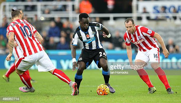 Cheick Tiote of Newcastle during the Barclays Premier League match between Newcastle United and Stoke City at St James' Park on October 31 2015 in...